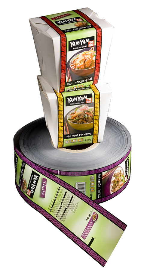 These are examples of the variety of package labelling options Banding System offers.